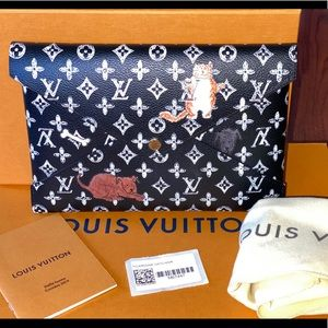 Authentic Louis Vuitton kirigami catogram pouch